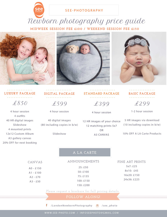newborn photography in bromley price guide